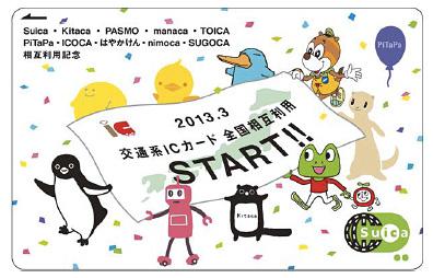 交通系ICカード 相互利用記念Suica