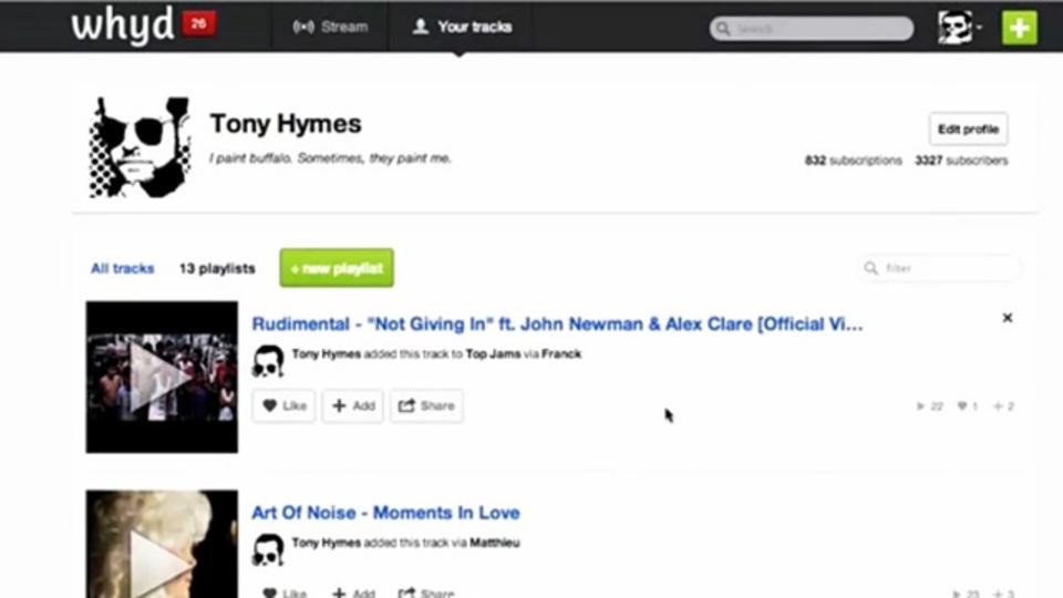 ウェブに点在したお気に入りの音楽をまとめてプレイリストにできる「Whyd」