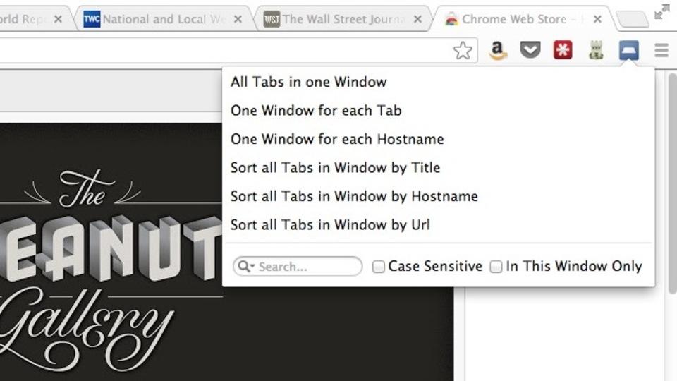 「開いている全タブで検索」などタブ管理のためだけのChrome拡張機能『TabJuggler』