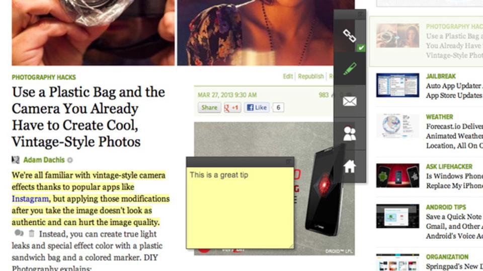 ウェブページにメモやハイライトをつけて、そのまま保存もできる『Annotary』
