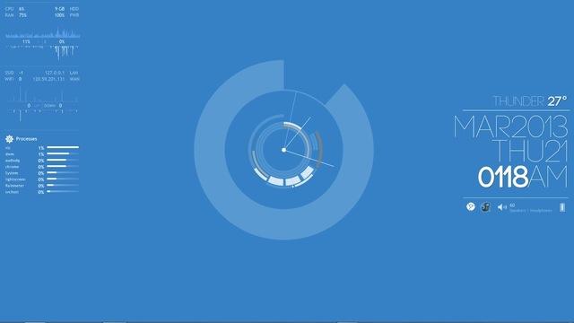 クリーンブルーデスクトップ~究極のデスクトップを求めて