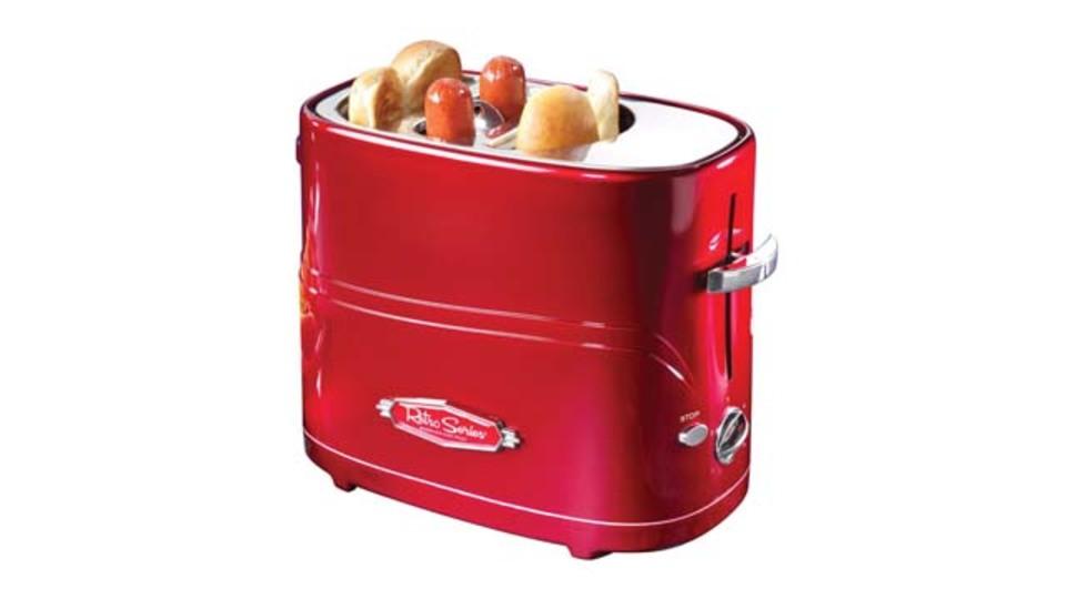 パンもソーセージも一度に焼けるホットドッグ専用トースター「Pop-Up Hot Dog Toaster」