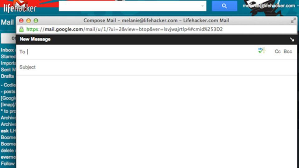 Gmailのメール作成画面を一発で別ウィンドウに開く方法
