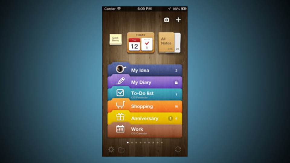 手帳代替アプリの決定版! 手書きメモ、スケジュール、ToDo、Evernote連携も:『Awesome Note』