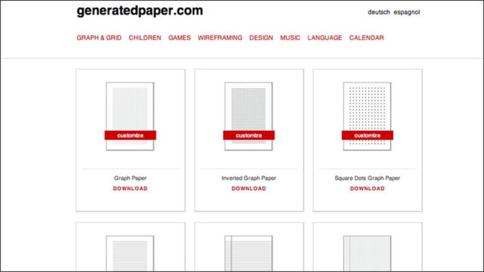方眼紙から五線譜まで、40種類以上の用紙テンプレートを無料でダウンロードできるサイト