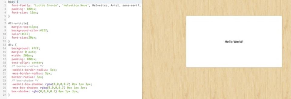 HTMLとCSSを自由に書ける&リアルタイムにプレビューできるサービス「CSSDesk」