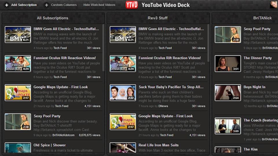 新着動画を見逃さない! チャンネル登録したYouTube動画をマルチカラム表示できる拡張機能