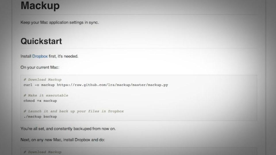 全てのアプリの設定をそのまま新しいMacに移行できる『Mackup』