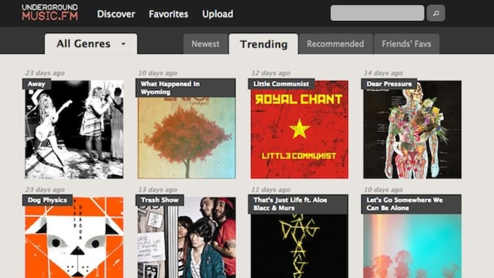 音楽発掘にもってこい:新人アーティストの音源を集めたサービス「UndergroundMusic.fm」