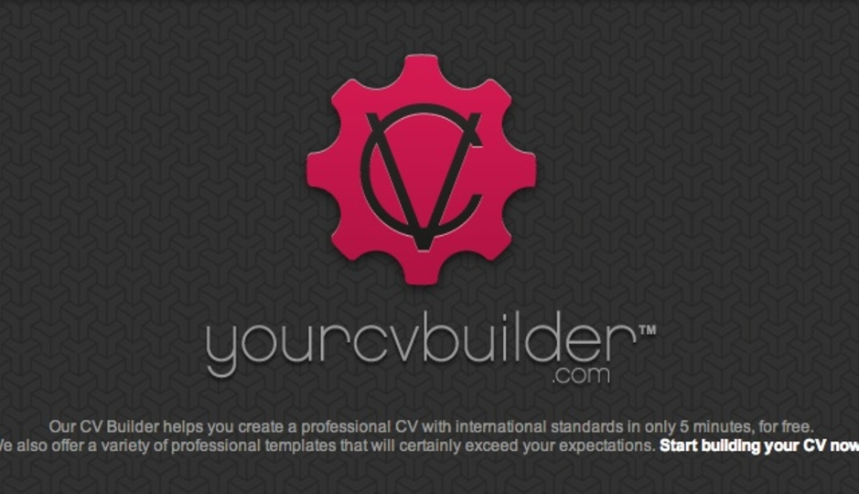 履歴書をウェブ上で作成→PDF化できるサイト「yourcvbuilder」