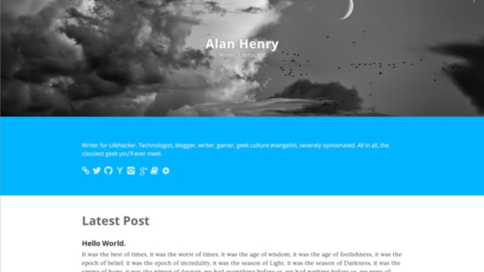 見栄えのいいプロフィールページが簡単・無料で作れる「Hoverboard.io」