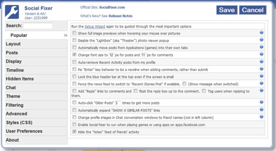 Facebookをとことんカスタマイズする拡張機能『Social Fixer』の設定方法