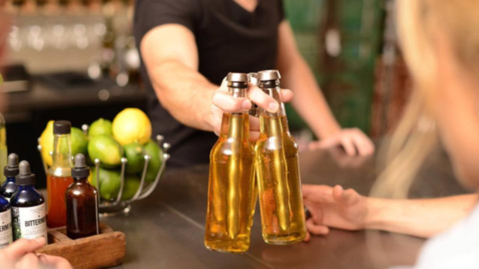 最後の一滴までボトルビールを冷たく飲める「Chillsner」