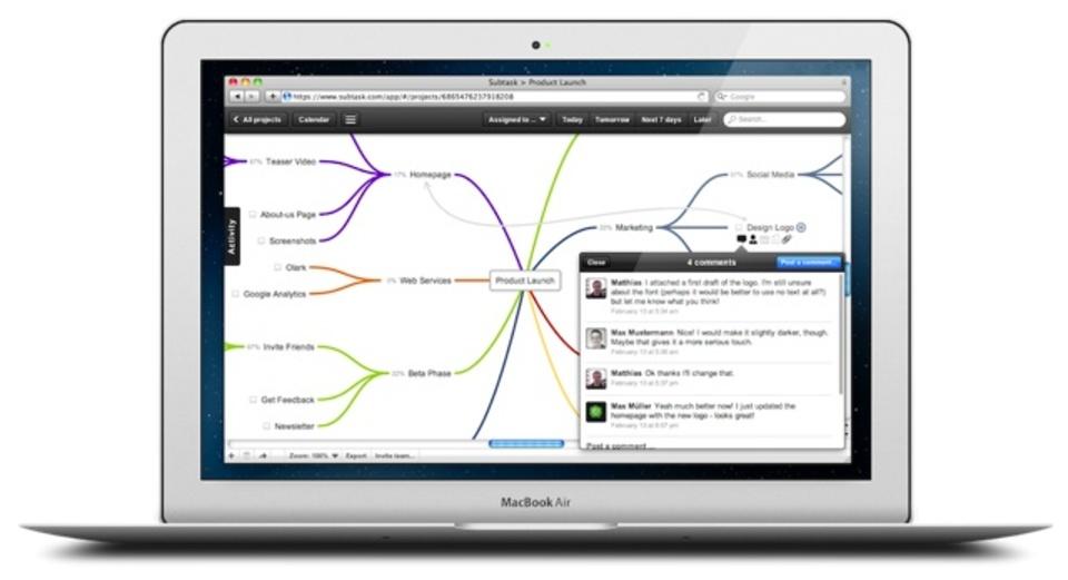 マインドマップ風、だから直感的にToDo管理ができるサービス「Subtask」