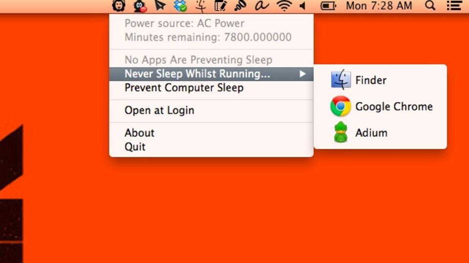 特定のアプリが動いている間はMacをスリープさせないアプリ『Wimoweh』
