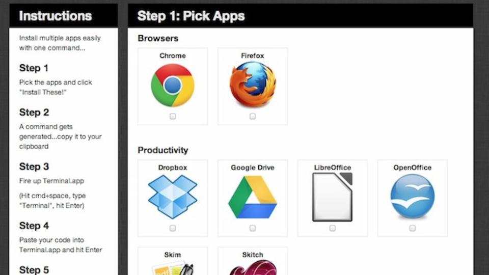Mac買い替え時に便利:人気フリーアプリのインストールを簡略化できるサービス