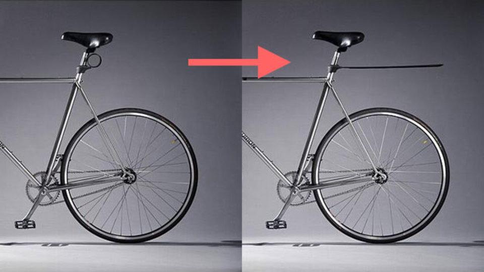 不要なときはコンパクトに巻き付けられる、自転車用の泥除け「Plum」