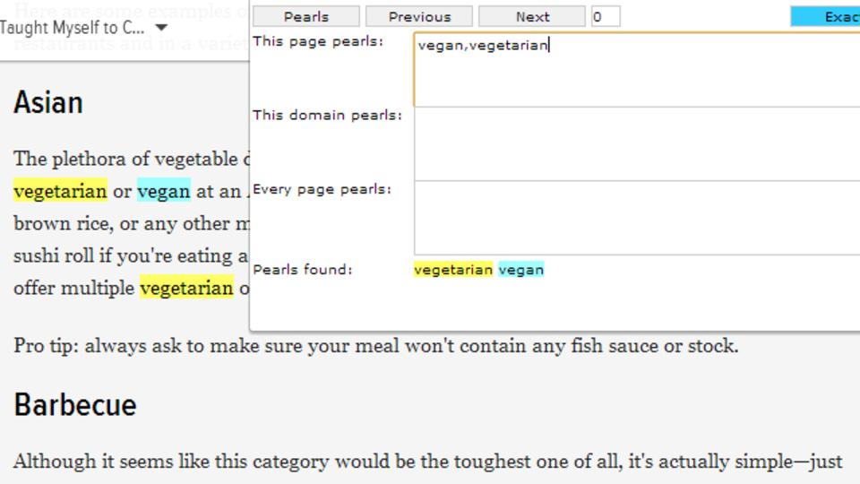 複数の単語を一度に検索できるChrome拡張機能『Pearls Extension』