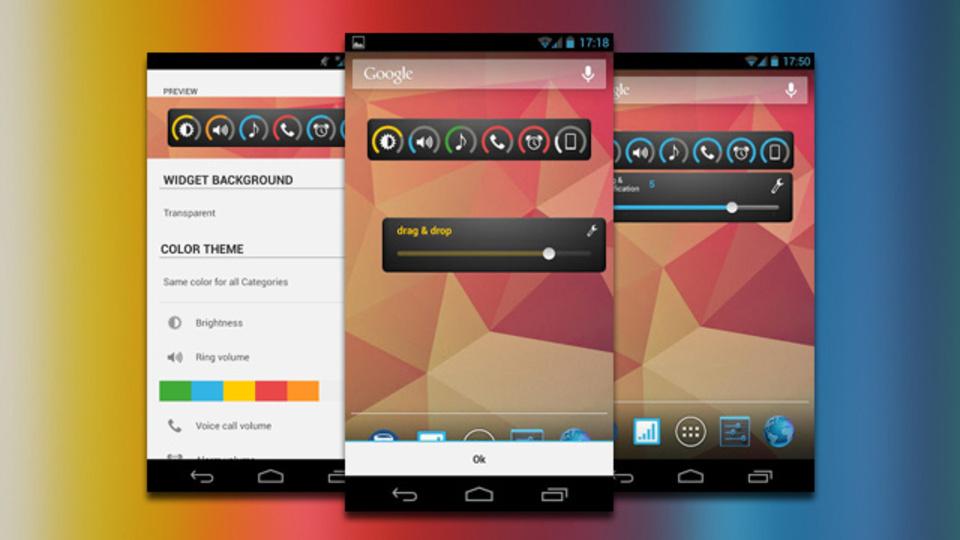 Androidの複数ある音量調整項目を一元管理できるウィジェット『Slider Widget 』