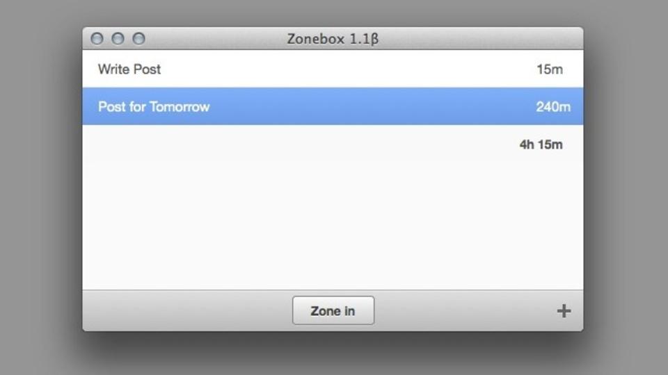 シンプル・効果的! プロジェクトに配分する時間の管理をアシストしてくれる『ZoneBox』