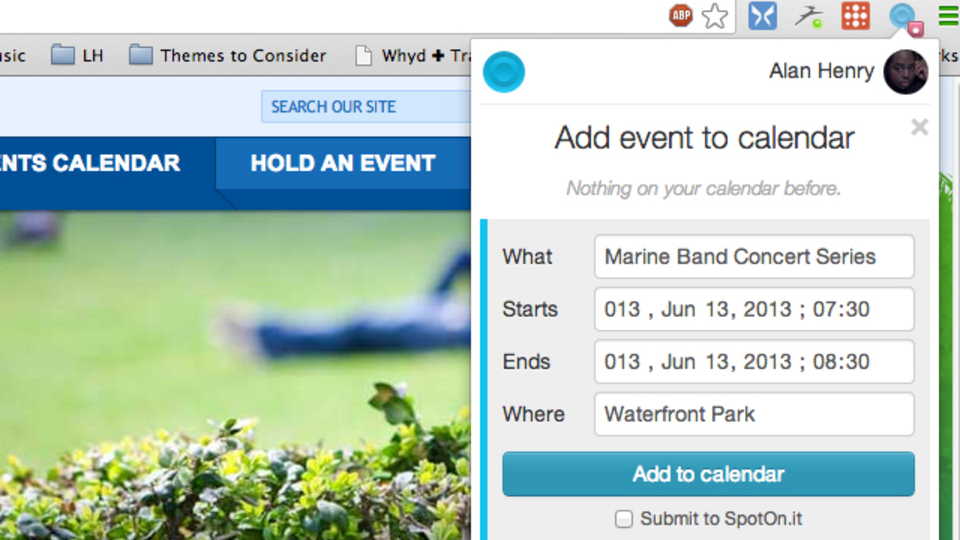 ウェブサイトでチェックしたイベントを、ワンクリックでGoogleカレンダーに追加する拡張機能