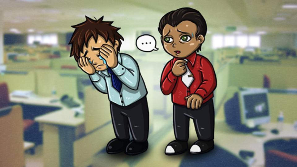 職場で同僚が泣き出してしまった! どうすればいい?