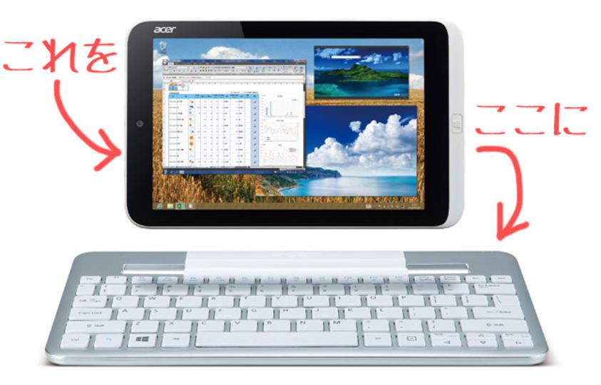 キーボードがイイ! Windows 8搭載の8.1インチタブレット、Acer Iconia W3は今夏発売