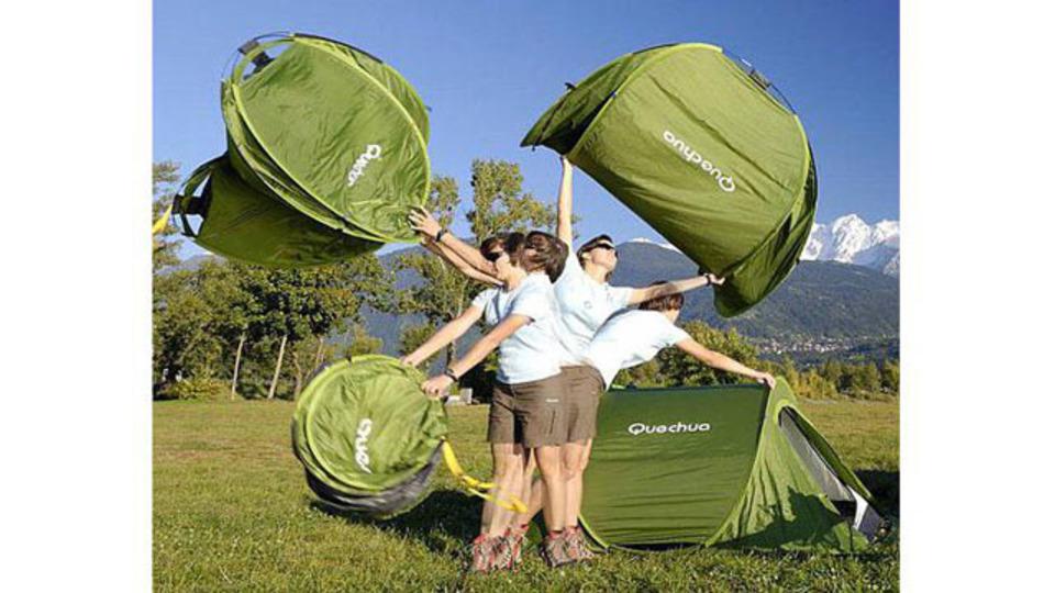 風を取り込んでたった2秒で広がるお手軽テント