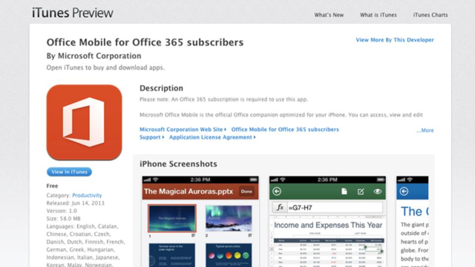 Microsoft OfficeのiPhone向けアプリって実際どうなの? 海外のレビューを見てみた
