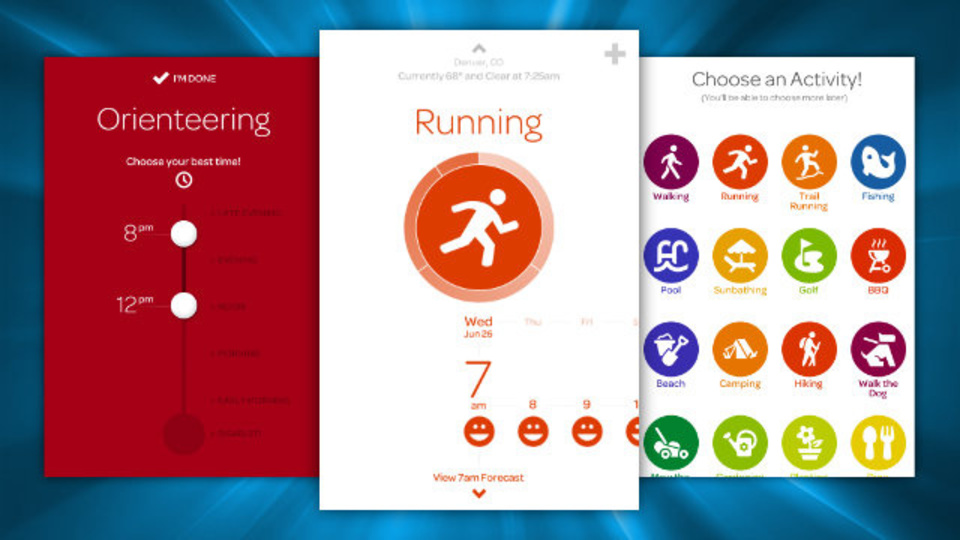 天候条件を元に運動などをするのにベストな日時を表示するアプリ『Foresee』