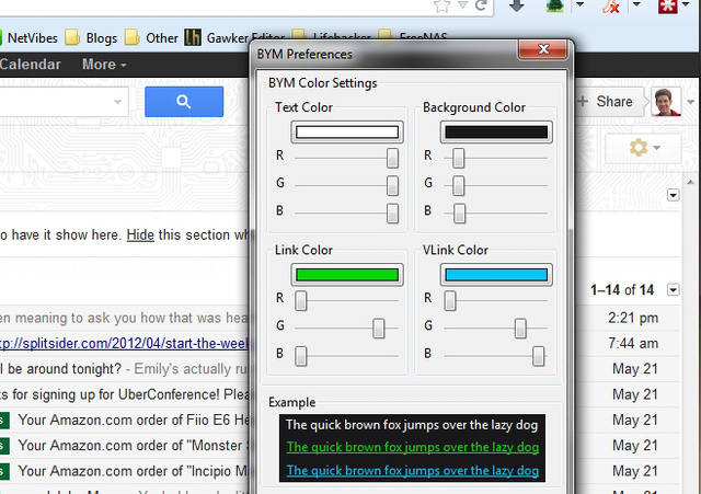 反転したカラースキームのカスタマイズが可能なFirefox用アドオン『Blank Your Monitor』