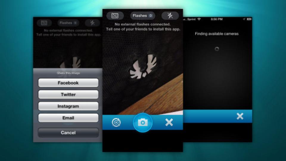 iPhoneのフラッシュを複数台同時に光らせることができる『External Flash』