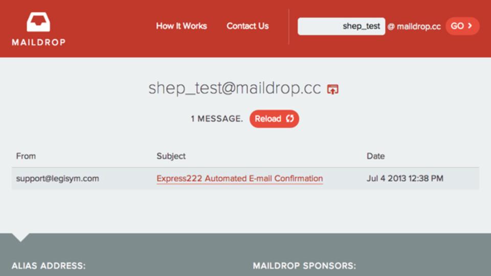 自分のアドレスを登録したくない時に無料で作れる「捨てアド」サービス「MailDrop」