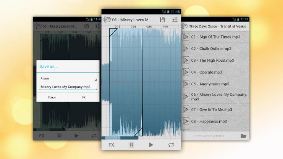 いとも簡単に自分だけの着信音作成が楽しめるAndroid無料アプリ『Ringtone Slicer 』