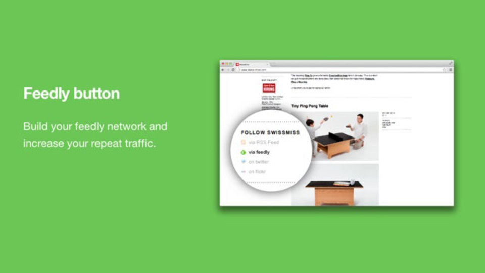 Feedlyへワンクリックで登録できる「Feedly Button」をブログに設置する手順