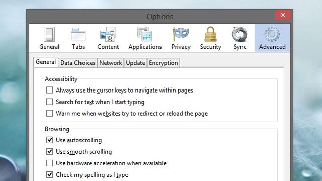 起動時間が長いなど、Firefoxの動作に問題がある場合はこの機能をオフにすると解決