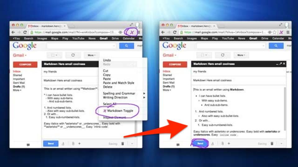 GmailやEvernoteのテキストでもMarkdown! ブラウザ拡張機能『Markdown Here』