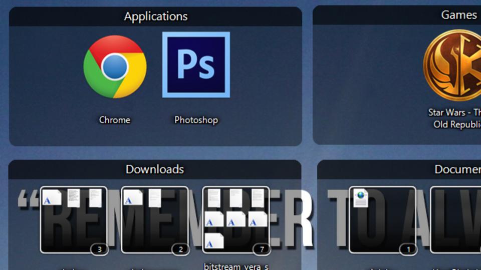 デスクトップに散らかったショートカットを整理する、だけじゃない高機能ツール『Nimi Places』