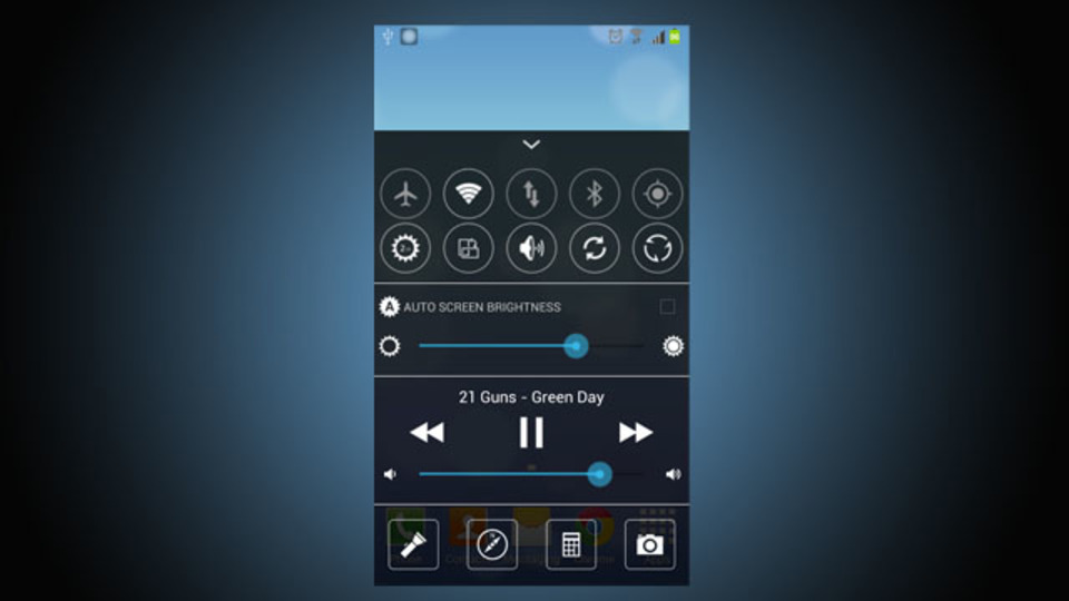 AndroidでiOS 7のフラットデザインを再現できる無料アプリ『Easy Controller』