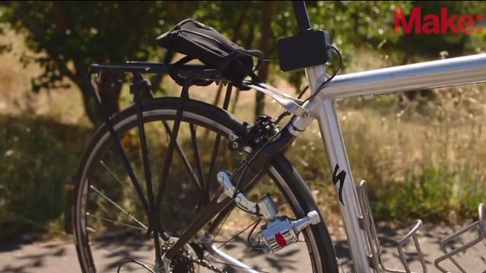 自転車でスマホを充電できる自家発電機の作り方