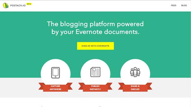 Evernoteノートブックをそのままブログにする「Postach.io」が、スマホで編集できて手軽
