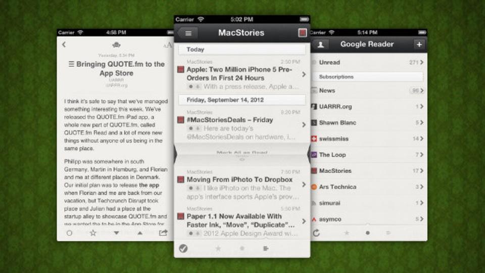 どんどん多機能に:リーダーアプリ『Reeder』iPhone版がFeedlyにも対応