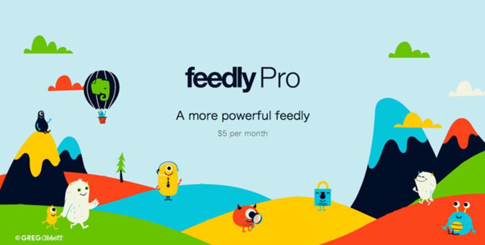 「Feedly」に有料のpro版登場。現在ユーザー数限定の「一生プラン」募集中