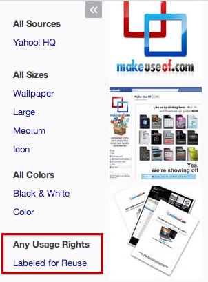 米Yahooの画像検索機能もCCに対応