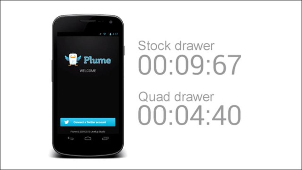 アプリ起動を2倍速くする! アプリ名を入力して起動できるランチャー『Quad Drawer』