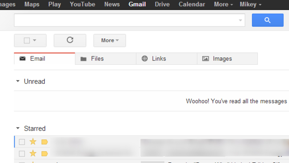 Gmailを「ファイル添付」「リンク付き」「画像添付」に分類してタブ化する拡張機能『Mikey』