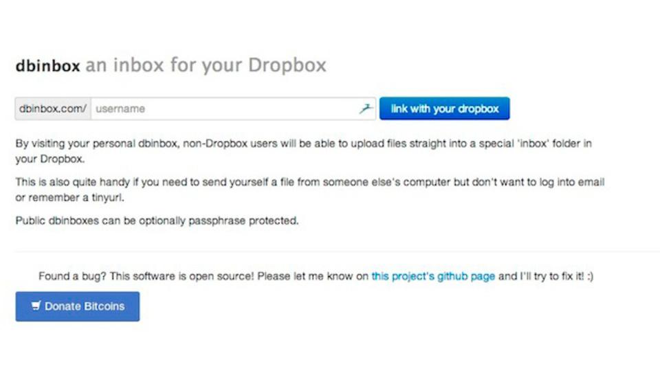 サイズ・形式を問わないファイルのやり取りのために:Dropboxへのアップロードリンクを作成する「dbinbox」