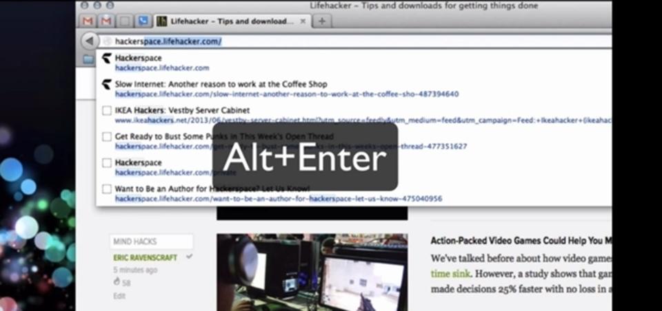 アドレスバーに入力したURLを新規タブで開くショートカットキーは「Alt」+「Enter」
