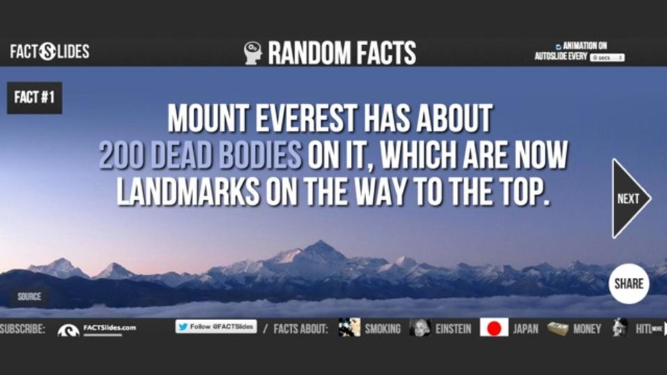 テンポが良くてセンスもいい! 豆知識をスライドでまとめたサイト「FACTSlides」