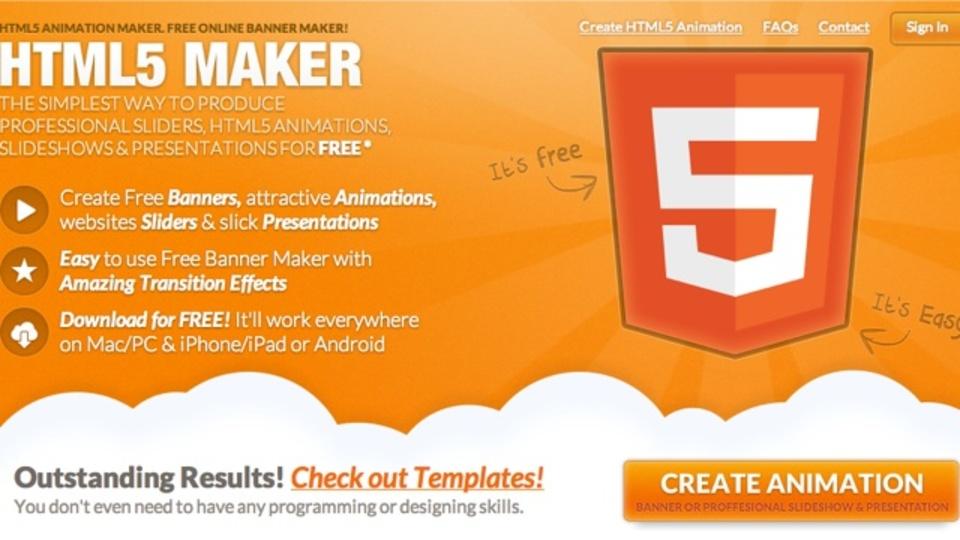 HTML5のアニメーションを簡単に作成できるサイト「HTML5 MAKER」